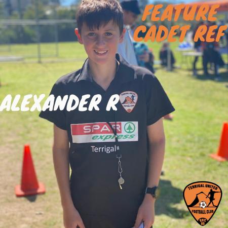 Feature Cadet Ref:  Alexander R
