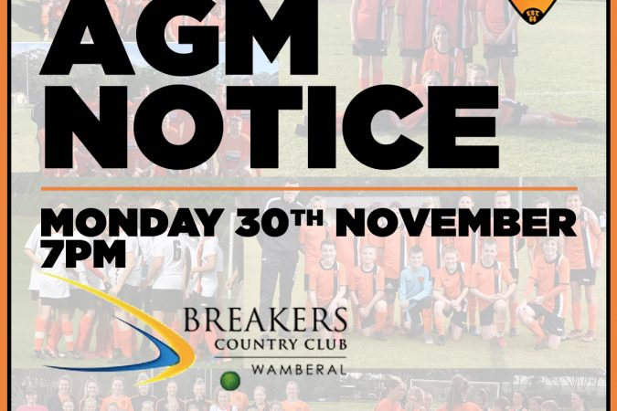 Notice of AGM:  Monday 30/11